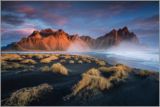 Canvas print  Sunrise in Iceland with a view of the Vestrahorn - Dennis Fischer