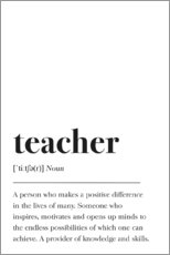 Premium poster Teacher Definition