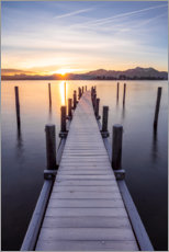 Acrylic print  Sunrise at the Chiemsee, Bavaria - Sebastian Jakob