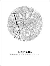 Premium poster  City map of Leipzig - 44spaces