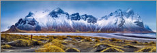 Acrylic print  At the foot of the mountains - Iceland - Art Couture