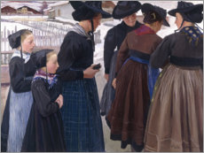 Poster  On the way to the church - Ernest Bieler