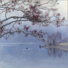 Canvas print  Autumn mood at the lake - Gustaf Edolf Fjæstad