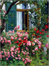 Premium poster  At the flower window - Franz Grässel