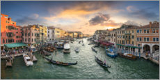 Premium poster Sunset over the Grand Canal