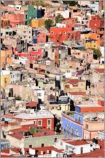Acrylic print  Colorful houses view of mexican city Guanajuato - Michael Rucker