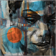 Canvas print  Nina Simone - Paul Lovering Arts