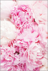 Canvas print  Pink peonies - Pulse of Art