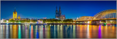 Premium poster  Panorama of the Cologne skyline - Martin Wasilewski