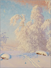 Canvas print  Ski tracks in the winter landscape - Gustaf Edolf Fjæstad