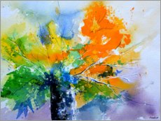 Premium poster  Colorful, abstract bouquet - Pol Ledent