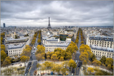 Premium poster Eiffel tower in autumn