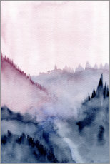 Premium poster  Abstract Mountains - RNDMS