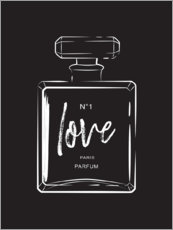 Wall sticker  Love Perfume - Martina illustration