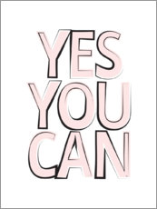 Gallery print  Yes You Can Quote - Martina illustration