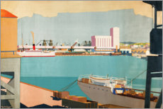Premium poster  Loading the Oranges at Cape Town - Guy Kortright