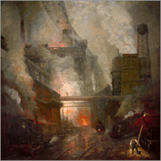 Premium poster Blast furnace tapping in Hörde