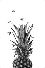 Acrylic print  Pineapple birds - NiMadesign