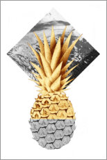 Acrylic print  Golden pineapple - NiMadesign