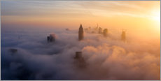 Acrylic print  Frankfurt am Main in the fog - Haussmann Visuals