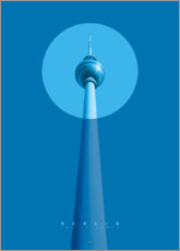 Canvas print  Berlin TV tower - Black Sign Artwork