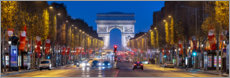 Acrylic glass  Champs Elysees and Arc de Triomphe in Paris - Jan Christopher Becke