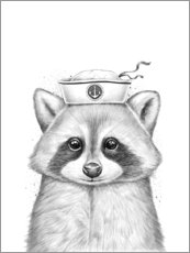 Premium poster  Raccoon sailor - Nikita Korenkov