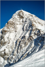 Acrylic print  Mönchbergspitze, view from the Jungfraujoch - Peter Wey