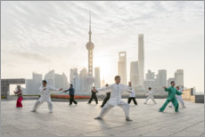 Canvas print  Tai Chi Chuan in Shanghai - Jan Christopher Becke