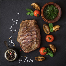 Canvas print  Season Steak Properly