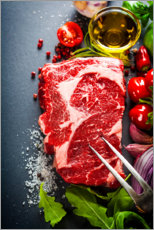 Canvas print  Steak preparation