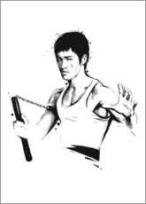 Wood print  Bruce Lee - Tompico