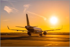 Canvas print  Airbus A320 NEO in the morning - HADYPHOTO