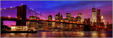 Premium poster  Brooklyn bridge - Art Couture