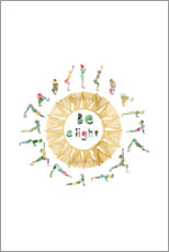 Canvas print  Sun Salutation - GreenNest