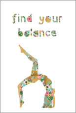 Canvas print  Find your balance - GreenNest