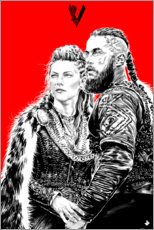 Wall sticker  Lagerta and Ragnar Lothbrok - Paola Morpheus