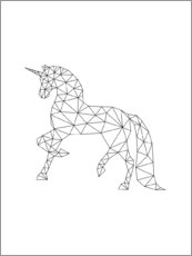 Foam board print  Unicorn black - Nouveau Prints