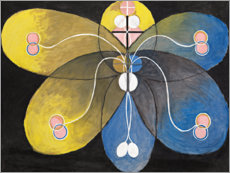 Foam board print  Evolution, No. 9 - Hilma af Klint