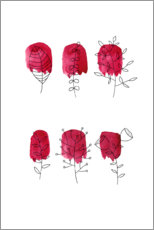 Canvas print  Floral in red - Mia Nissen