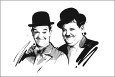 Canvas print  Laurel and Hardy - Tompico