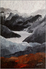 Poster  Energy of the mountains - Ruth Palmer