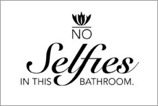 Wall sticker  No selfies in this bathroom - Typobox