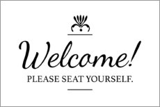 Acrylic print  Please seat yourself - Typobox