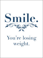 Canvas print  you're losing weight - Typobox