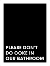 Acrylic print  Please don't do coke - Typobox
