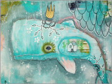 Premium poster  Little whale in the ocean of dreams - Micki Wilde
