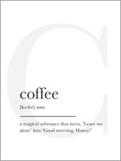 Canvas print  Coffee Definition - Finlay and Noa