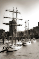 Acrylic print  Port of Hamburg - Carmen Varo