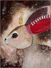 Poster  Three little wishes - whimsical rabbit - Micki Wilde